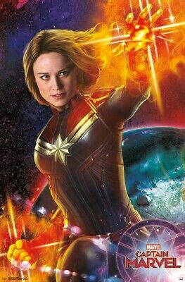 CAPTAIN MARVEL - ENERGY POSTER - 22x34 - MOVIE 17249