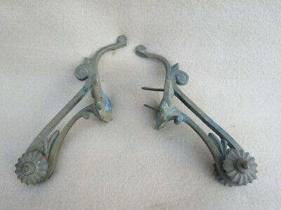 Pair Of Antique Grass Clock Mounts For Tlc