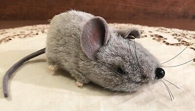 Vintage Steiff Mouse Rat with Button Glass Eyes Stuffed Animal Plush Toy Germany
