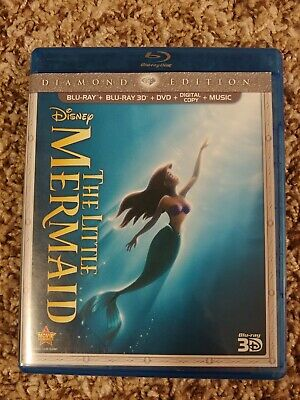 The Little Mermaid (Blu-ray/DVD/3D Blu-Ray, 2013, 3-Disc Set, Diamond Edition