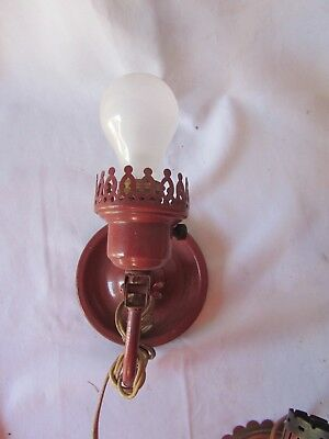 vintage red  wall light  or sconce light