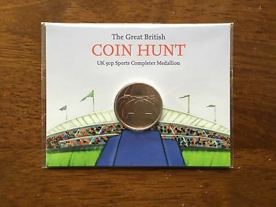 NEW Sealed 2012 London Olympics 50p Completer Medallion Great British Coin Hunt