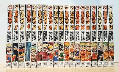 NARUTO 1-19 Manga Collection Complete Set Run Volumes Graphic VIZ ENGLISH RARE