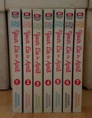 YOUR LIE IN APRIL 1-7 Manga Collection Complete Set Run Volumes ENGLISH RARE