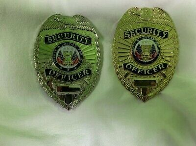 2 LawPro Security Officer Badge, Gold, And Silver
