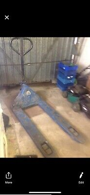 Blue used pump truck collection UK only