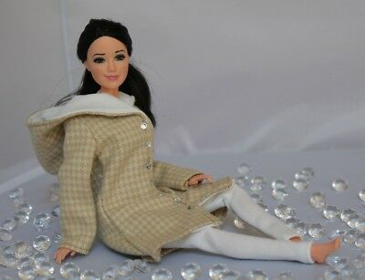 .Clothes for Barbie Doll. Hooded Coat and Leggings for Dolls.