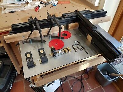 VERITAS ROUTER TABLE Top, Fence, Right-Angle Sled, Pin Router Arm, Bit Jack