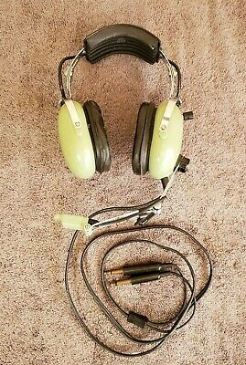 David Clark Aviation Headphone H10-30 Headset with DC mic M-4 Untested TSO-C58a