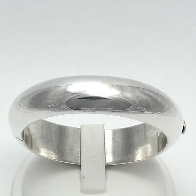 983717441 Tiffany & Co Mexico Sterling Silver 15mm Hinged Bangle Bracelet Med With  Pouch
