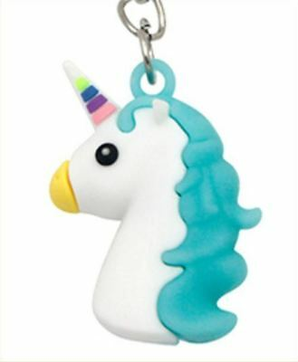 Unicorn Keyring Magical Silicone Girl Bag Pendant Keychain Blue T002 C4 a AL21