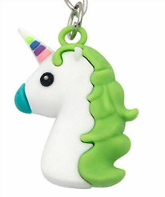 Unicorn Keyring Magical Silicone Girl Bag Pendant Keychain Green T002 C3 a AL21