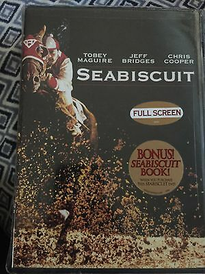Seabiscuit dvd full screen  W/ bonus Book  by Laura Hillenbrand  Tobey maguire