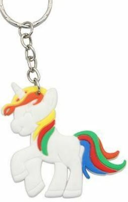 Unicorn Keyring Magical Silicone Girl Bag Pendant Keychain Rainow T001 C2 a AL21