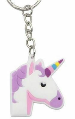 Unicorn Keyring Magical Silicone Girl Bag Pendant Keychain Purple T001 C6 a AL21