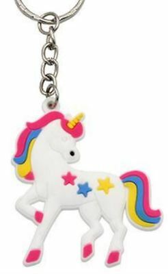 Unicorn Keyring Magical Silicone Girl Bag Pendant Keychain Star T001 C3 a AL21
