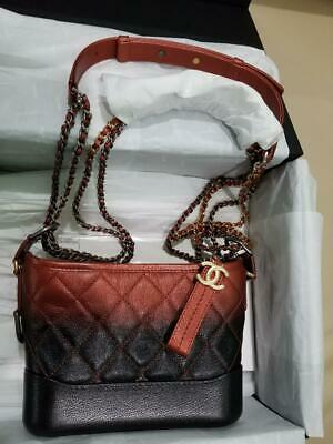 2f9e2a125e50b Chanel Gabrielle Hobo Aged Calfskin Quilted Small Red Black Leather Hobo Bag