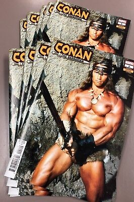 Conan The Barbarian #1 Arnold Schwarzenegger RARE NM+ Movie Photo Variant MARVEL
