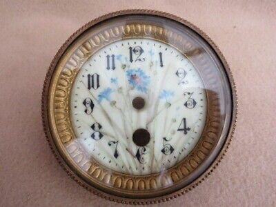 Antique French Clock Bezel And Glass Fit An Aperture Of 9.5Cm