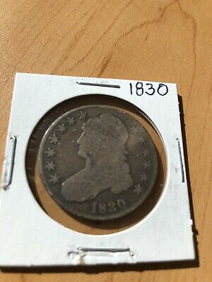 1830 Capped Bust Half Dollar - Semi-Key!!  Better Date!!  #e19