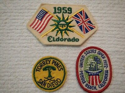 Vintage Golf Patch Lot 1972 Pebble Beach US Open 1959 Ryder Cup Torrey Pines / 3