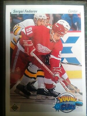90 / 91 Upper Deck Young Guns Rookie Card UER of  Sergei Fedorov #525