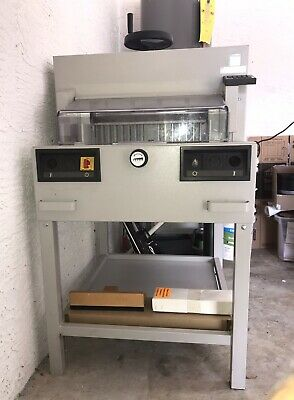 """Ideal Paper Cutter 4810-95 Ep 18"""" Used Mbm Business Machine Guillotine"""