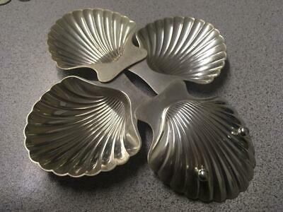 TIFFANY & CO. Makers Sterling Silver Clam Shell Footed Dishes 4