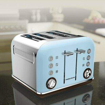 Morphy Richards Accents Special Edition 4 Slice Toaster, Azure