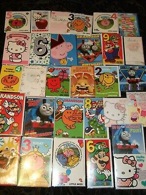 30 mixed CHILDRENS BIRTHDAY CARDS - Greeting Wholesale Job Lot  - AS PICTURED