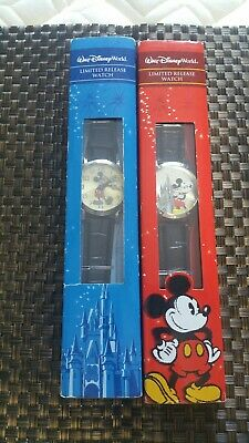 Lot Of 2 Limited Edition Release Mickey Mouse Watches Walt Disney World