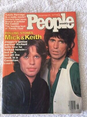 PEOPLE MAGAZINE MICK Jagger Keith Richards Rolling Stones November 21 1977