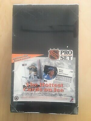 1991-92 Pro Set Hockey French English Wax Pack Box Low Series Sealed Mint
