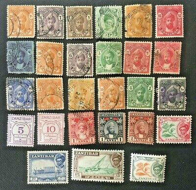 British Africa, Zanzibar Collection Of Old Stamps