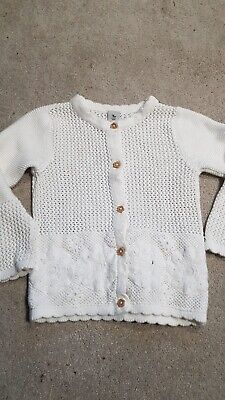 Girls Cream Cardigan 12-18 Months