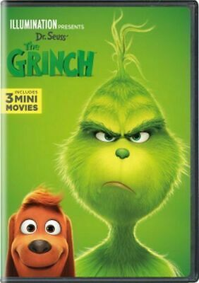 Dr. Seuss THE GRINCH 2018 DVD Brand New & Sealed USA Slipcover FREE SHIP