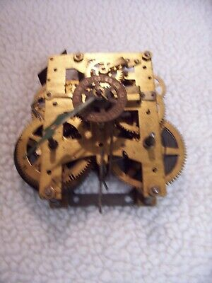 New Haven 8 day Backmount mantel clock movement w/alarm for parts or repair