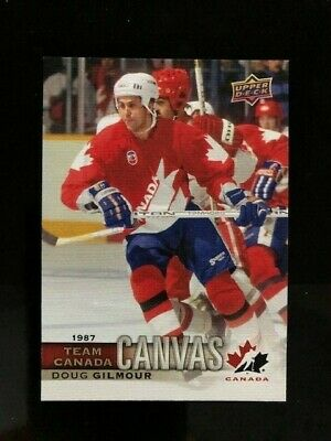 2017-18 UD Canadian Tire Team Canada Doug Gilmour '87 Canada Cup Canvas SP TCC50