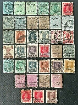 India States Collection Of Stamps