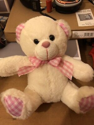Cute Pink And White Teddy Bear