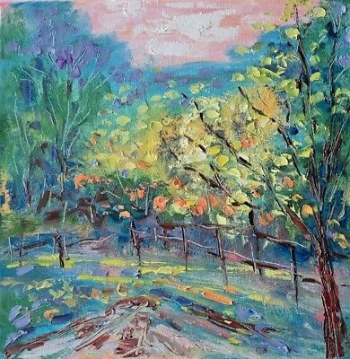original oil painting - California Napa  & flowers- 10 x 10direct from Artist