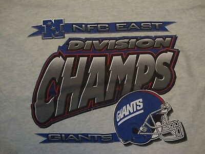Vintage NFL New York Giants Football NFC East Division Champs T Shirt Size  XL 724c292fb