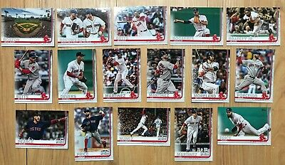 2019 Topps Series One 1 Boston Red Sox Team Set 16 Baseball Cards FREE SHIPPING