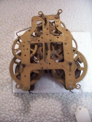Seth Thomas 8 day  front mount mantel clock movement for parts or repair/3 5/8