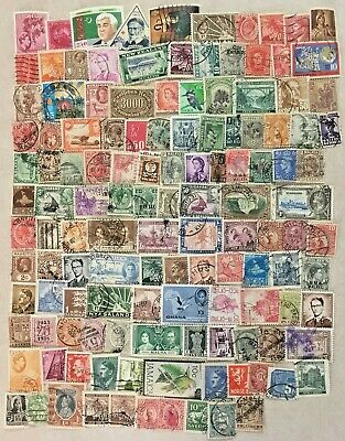 125 Different World Wide Stamps, Mostly Older, Lot 1