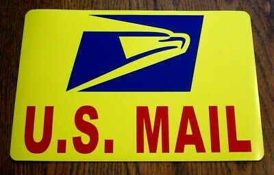 """(1)  U.S. MAIL Magnetic Sign  USPS - 8"""" X 12"""" USA Made Yellow"""