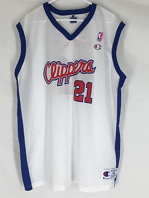 c0673bb0ce5 VTG LOS ANGELES CLIPPERS DARIUS MILES #21 BASKETBALL JERSEY Champion Size  XL 48
