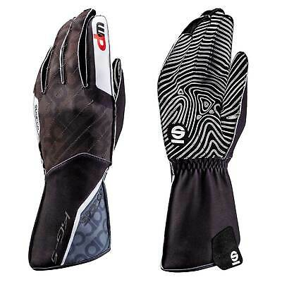 Sparco Motion KG-5 WP Water Resistant Karting Gloves Fleece Lined Large NEW