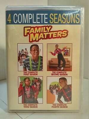 Family Matters: The Complete Seasons 1-4 Box Set (DVD, 2018) Sealed