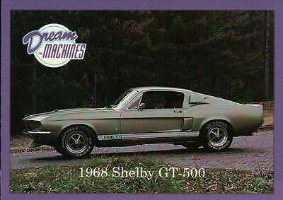 1968 Shelby GT-500, Dream Machines Cars, Trading Card, Automobile - Not Postcard